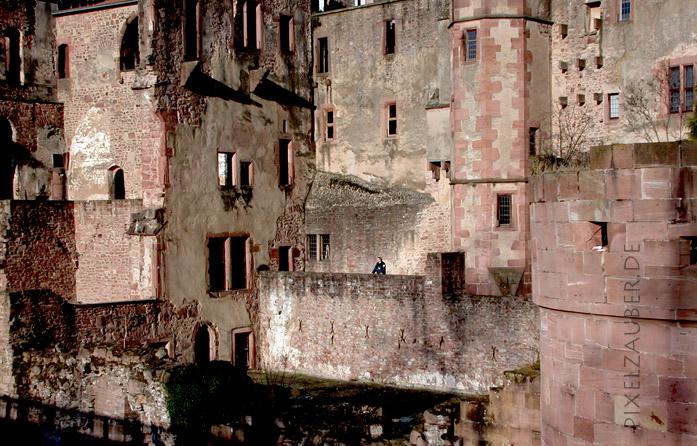 Heidelberg Castle - Unusual View Photo Schindelbeck