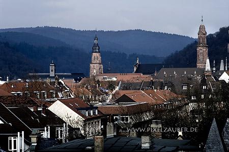 Heidelberg - Blick über die Dächer Photo