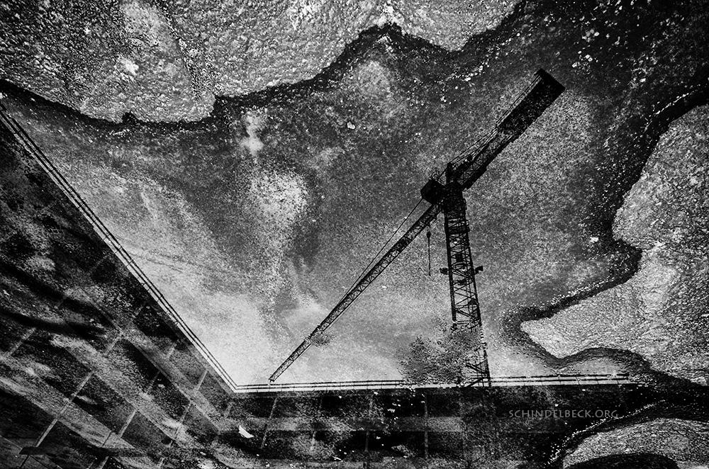 Kran Spiegelung Photo Schindelbeck